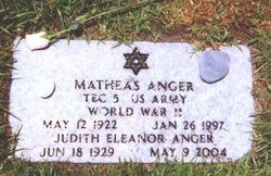 Judith Eleanor Waldstein Anger (1929 - 2004) - Find A Grave Memorial