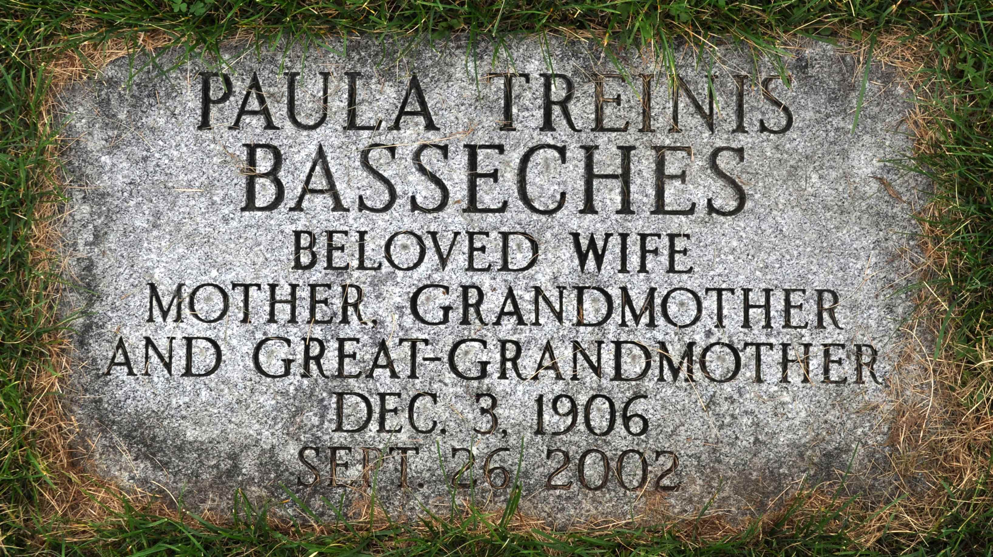 Paula Treinis Basseches (1906 - 2002) Find A Grave Memorial