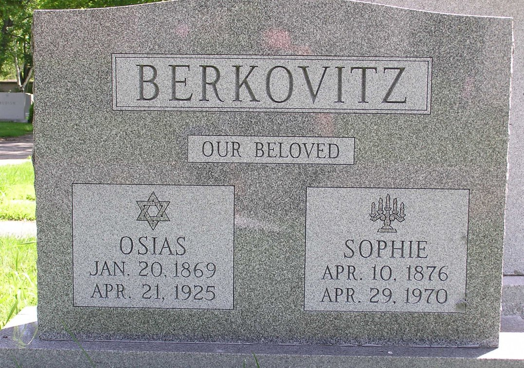 Sophie Goldberg Berkowitz (1876-1970) - Find A Grave Memorial
