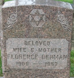 Florence Berman (1909-1967) Find A Grave Memorial