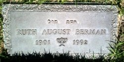 Ruth August Berman (1901 - 1992) Find A Grave Memorial