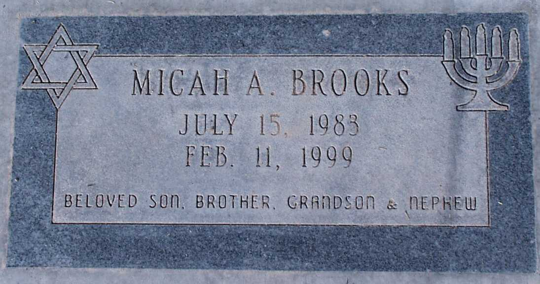 Micah Alexander Brooks (1983-1999) - Find A Grave Memorial