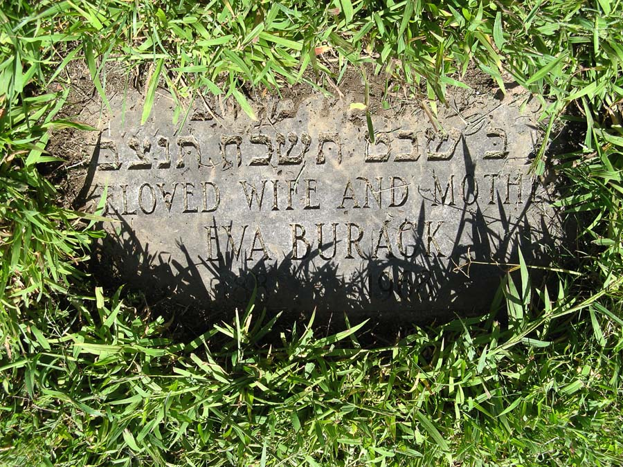 Eva Werblin Burack (1883 - 1968) Find A Grave Memorial