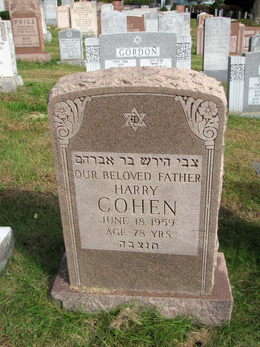 Harry Cohen (1881 - 1959) Find A Grave Memorial