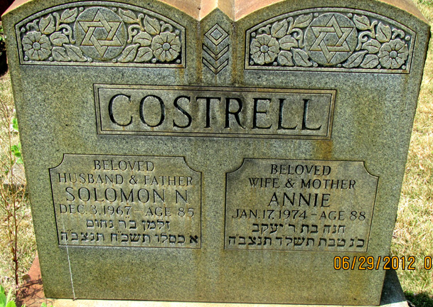 Annie Costrell ( - 1974) Find A Grave Memorial