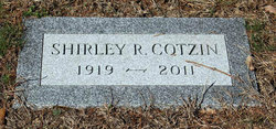 Shirley Ruth Sigel Cotzin (1919 - 2011) Find A Grave Memorial