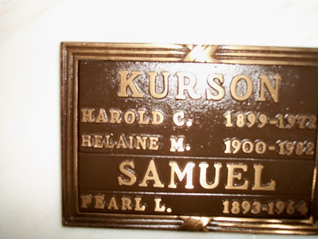 Harold Card Kurson (1899 - 1972) Find A Grave Memorial