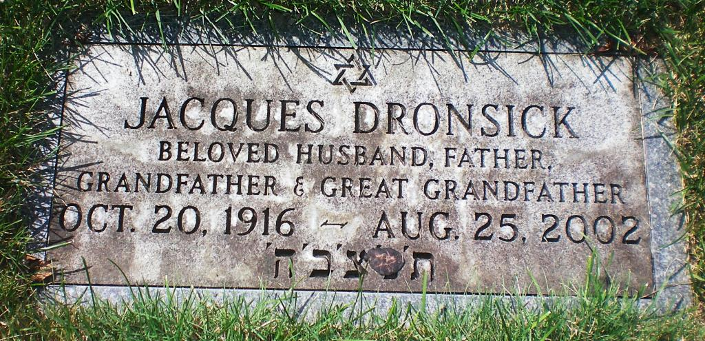 Jacques Dronsick (1916 - 2002) Find A Grave Memorial
