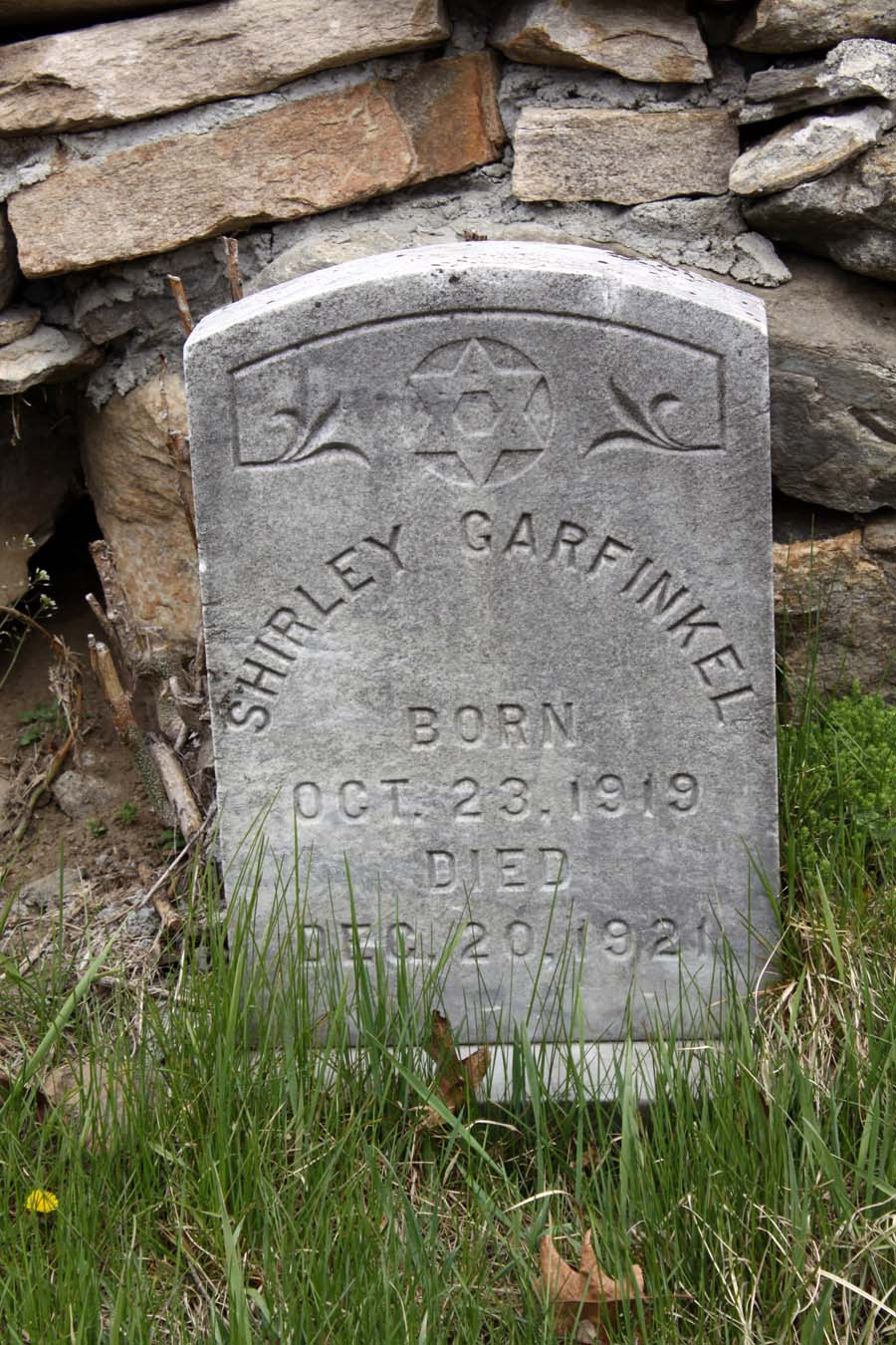 Shirley C. Garfinkel (1919 - 1921) Find A Grave Memorial