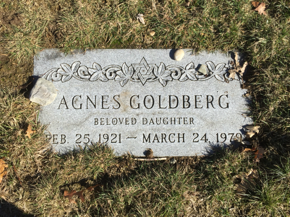 Agnes Goldberg (1921 - 1979) Find A Grave Memorial
