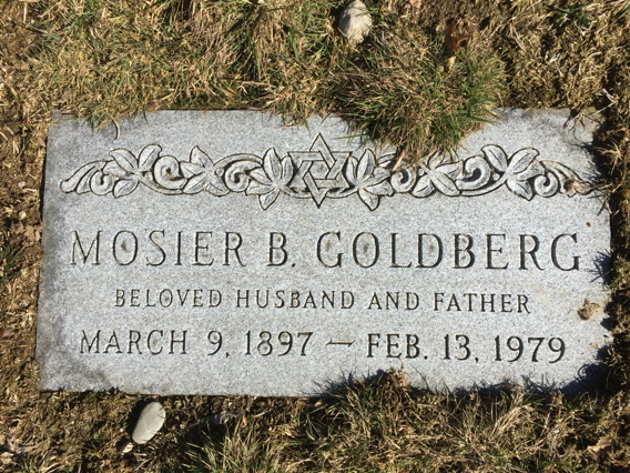 Mosier Barnet Goldberg (1897 - 1979) Find A Grave Memorial
