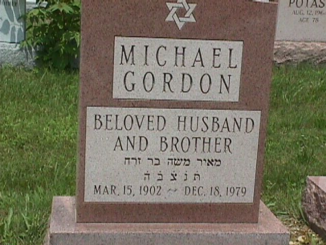 Michael 'Micky' Gordon (1902 - 1979) Find A Grave Memorial