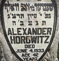 Alexander Horowitz ( - 1933) Find A Grave Memorial