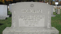 Sam Horowitz ( - 1951) - Find A Grave Memorial