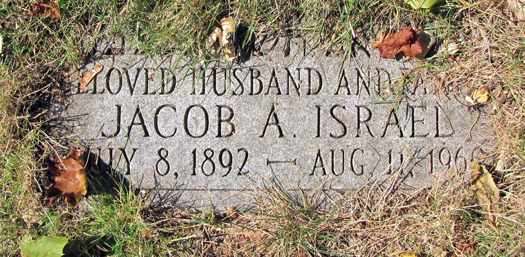 Jacob Arthur Israel (1892 - 1960) Find A Grave Memorial