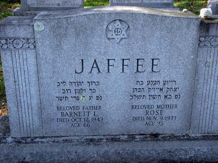 Barnett Louis 'B.L.' Jaffe Jaffee (1877 - 1943) Find A Grave Memorial