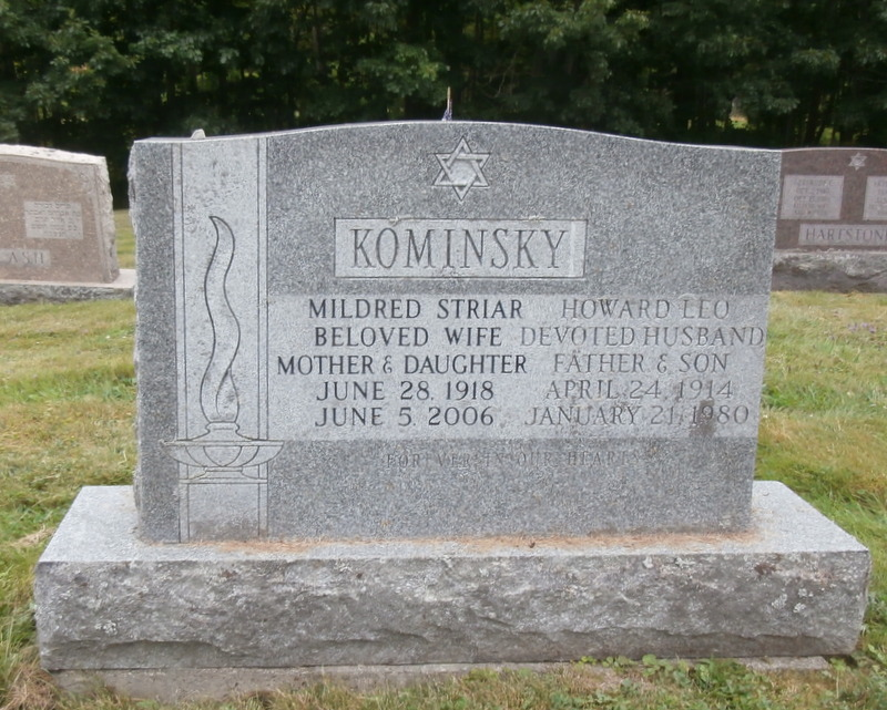 Mildred Striar Kominsky (1918 - 2006) Find A Grave Memorial