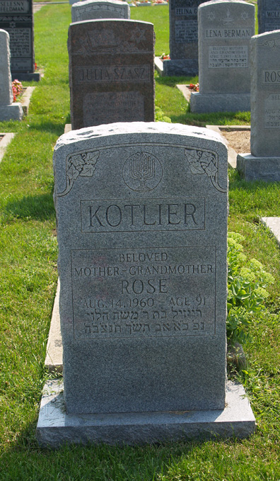 Rose Kotlier (1869 - 1960) Find A Grave Memorial