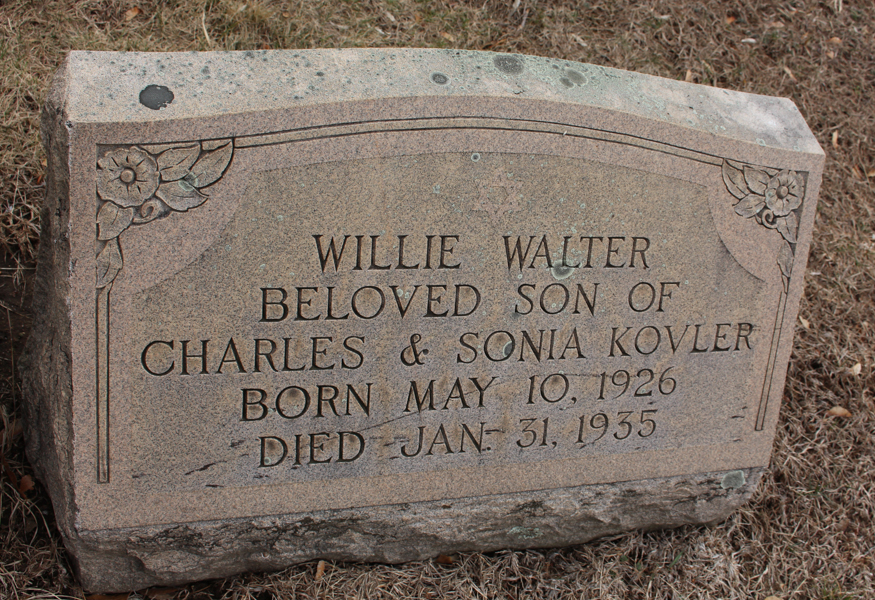 Willie Walter Kovler (1926 - 1935) Find A Grave Memorial