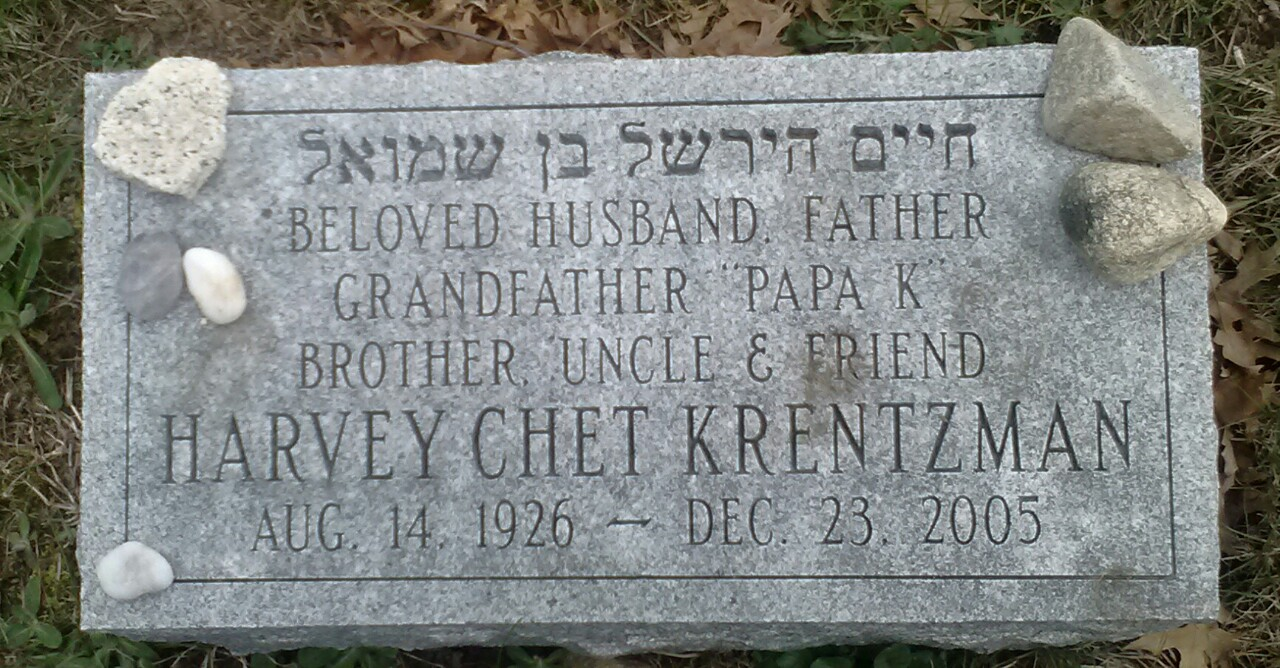 Harvey Chester 'Chet' Krentzman (1926 - 2005) Find A Grave Memorial