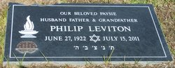 Philip 'Phil' Leviton (1922 - 2011) - Find A Grave Memorial