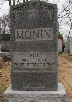 Joel Monin (1866 - 1943) Find A Grave Index