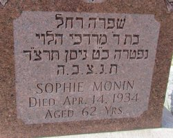 Sophie Rachel Monin (1879 - 1934) Find A Grave Memorial