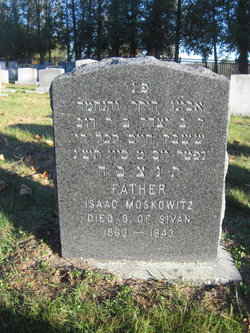 Isaac Moskowitz (1863 - 1943) Find A Grave Memorial