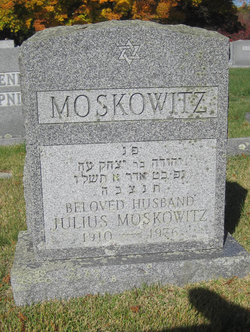 Julius Moskowitz (1910 - 1976) Find A Grave Memorial