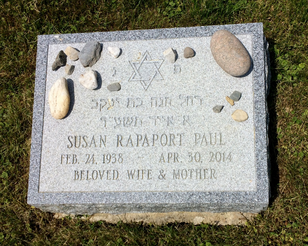 Susan Rapaport Paul (1938 - 2014) Find A Grave Memorial