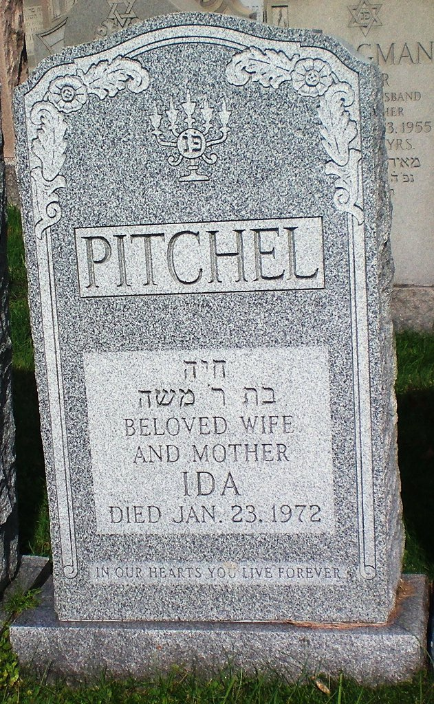 Ida Pitchel ( - 1972) Find A Garve Memorial