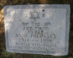 Anne Podolsky (1914 - 1990) Find A Grave Memorial
