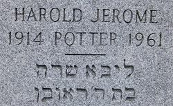 Harold Jerome Potter (1914 - 1961) Find A Grave Memorial