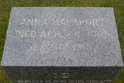 Anna Rapaport (1890 - 1914) - Find A Grave Memorial