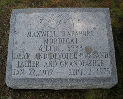 Maxwell Rapaport (1912 - 1973) - Find A Grave Memorial
