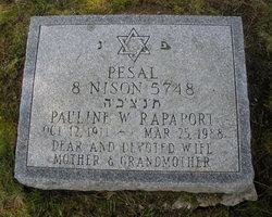 Pauline W. Rapaport (1911 - 1988) - Find A Grave Memorial