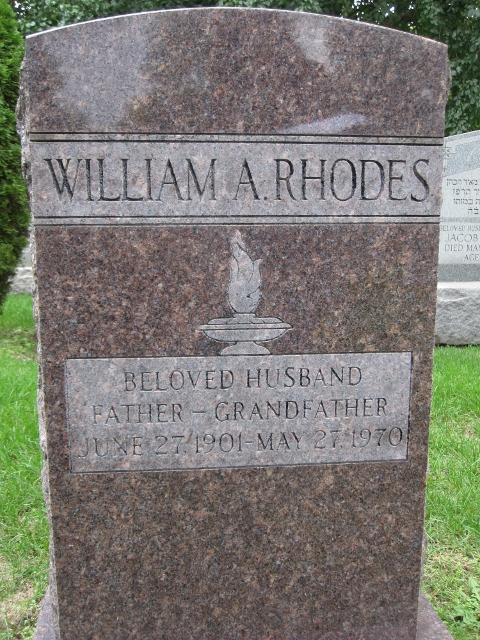 William Aaron Rosenberg Rhodes (1901 - 1970) Find A Grave Memorial