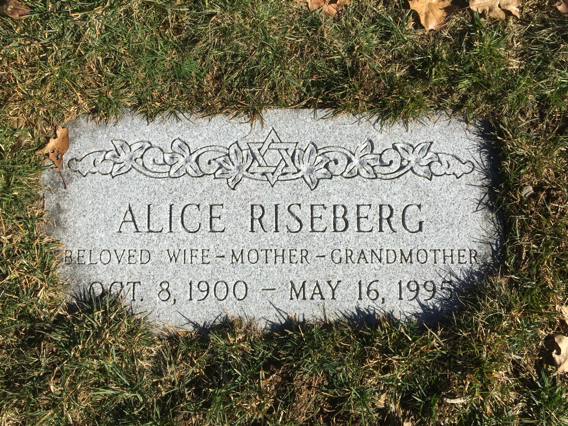 Alice Gorovitz Riseberg (1900 - 1995) Find A Grave Memorial
