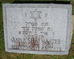 Anna Shafmaster (1895 - 1981) - Find A Grave Memorial