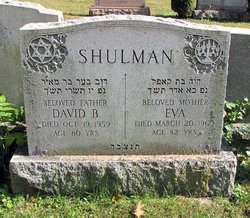 David Barnard Shulman (1882 - 1959) - Find A Grave Memorial