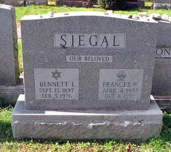 Bennett I. Siegal (1897-1976) - Find A Grave Memorial