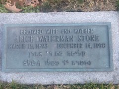 Alice Ashley Waterman Stone (1893 - 1978) Find A Grave Memorial