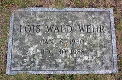 Lois Wald Wehr (1930 - 1988) Find A Grave Memorial