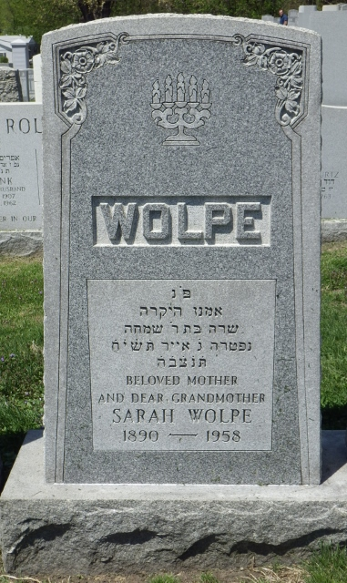 Sarah Wolpe (1890 - 1958) Find A Grave Memorial