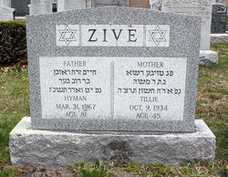 Hyman Zive (1886 - 1967) - Find A Grave Memorial