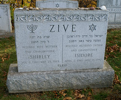 Shirley Lubowitz Zive (1910 - 1993) Find A Grave Memorial