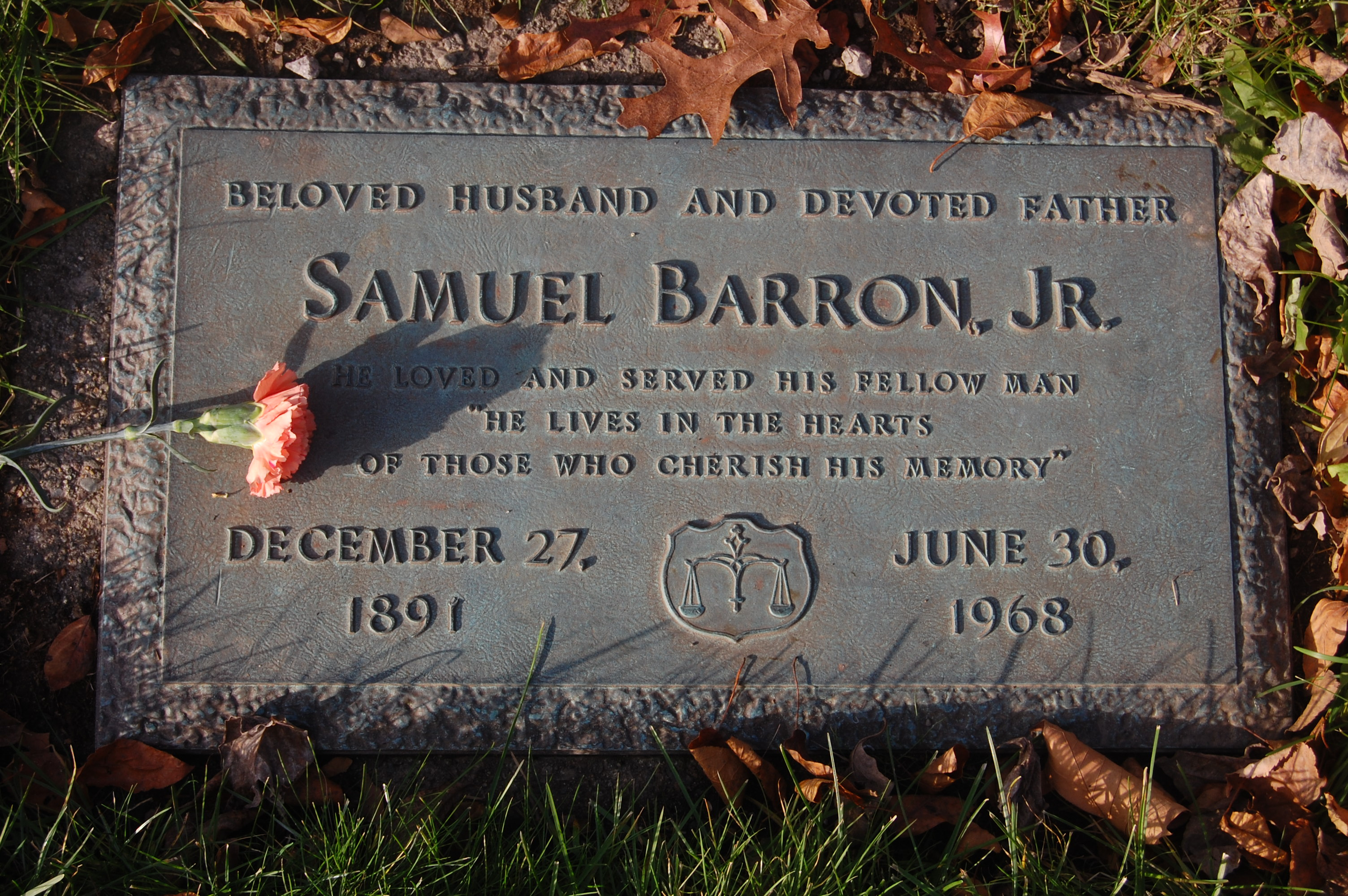 Samuel Barron, Jr (1891 - 1968) Find A Grave Memorial