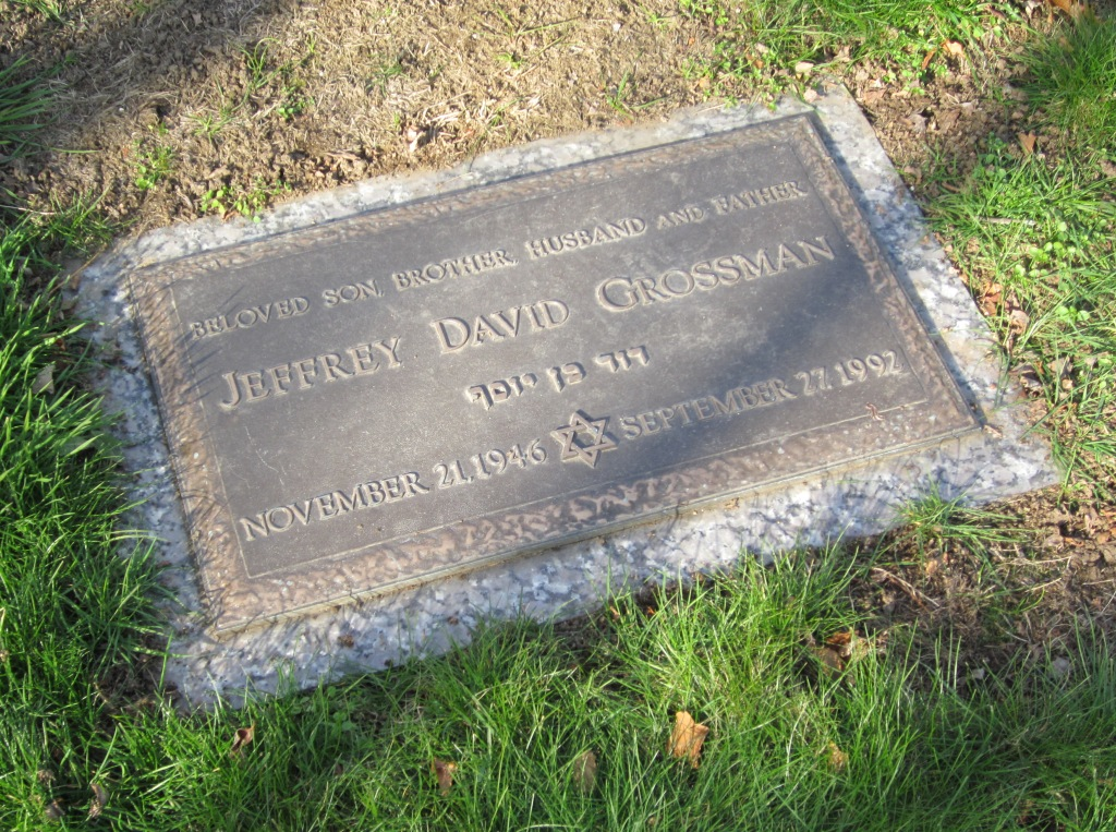 Jeffrey David Grossman (1946 - 1992) Find A Grave Memorial
